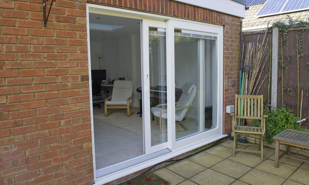 pvcu white sliding patio door for your home