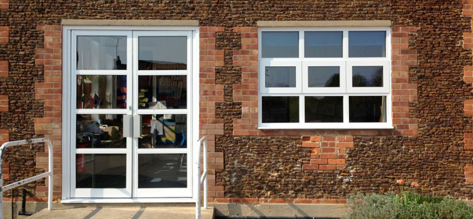 commercial aluminium windows and doors with glass